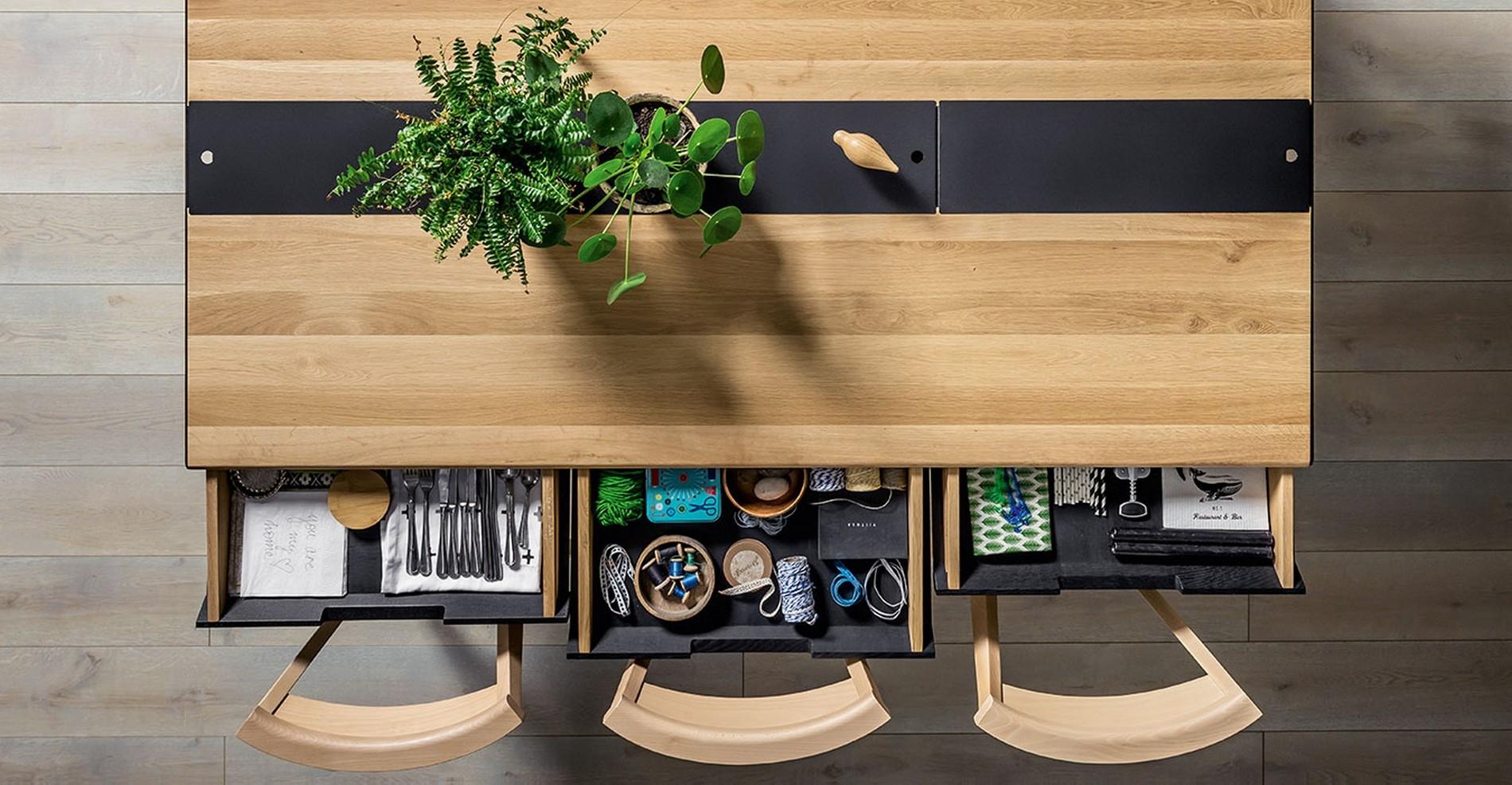 table salle a manger design en chene