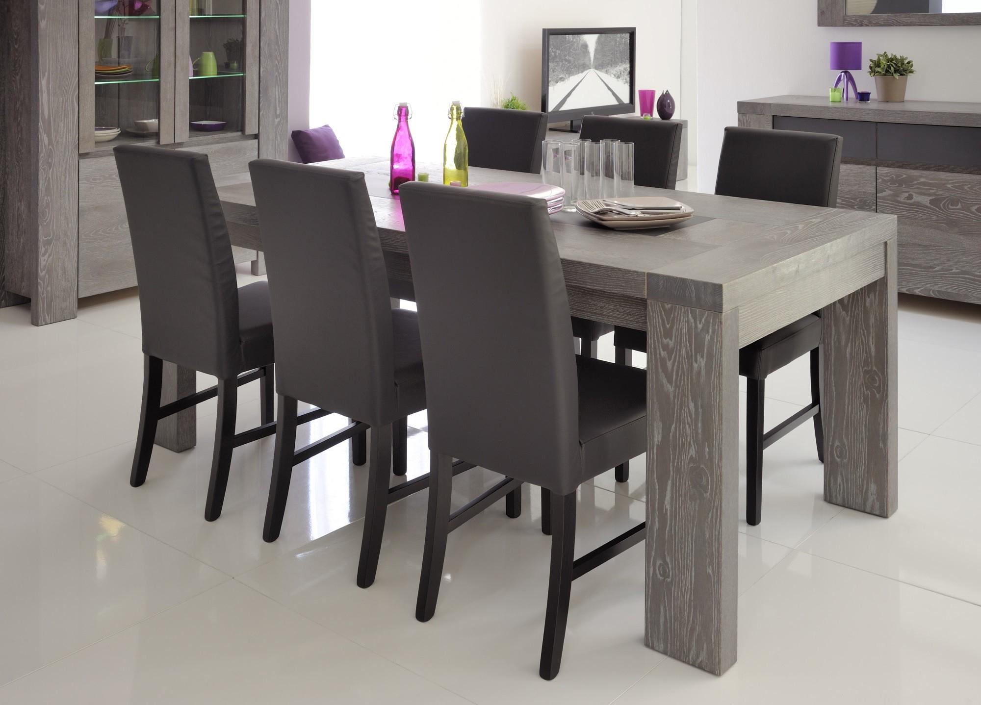 table salle a manger grise loft de 8 10
