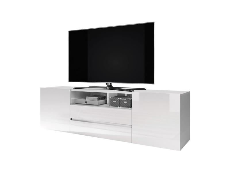 Meuble Tv Meuble De Salon Bros 140 Cm Blanc Mat Dedans Meuble Tv Hauteur 80 Cm Conforama Agencecormierdelauniere Com Agencecormierdelauniere Com