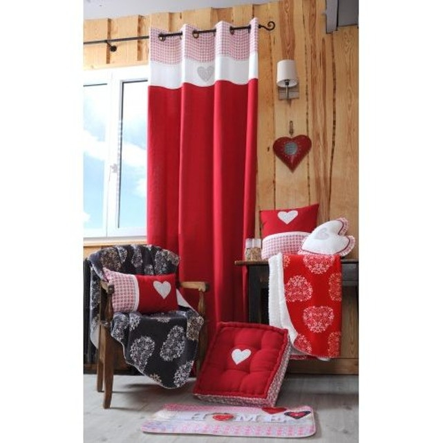 rideau montagne chic rouge home