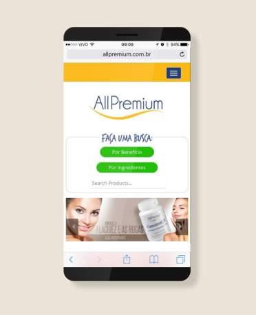 Blank Agência Criativa - E-Commerce / Loja Virtual - All Premium