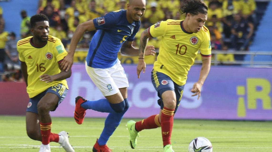 0-0 el primer tiempo de Colombia vs. Brasil   Agenciapi.co
