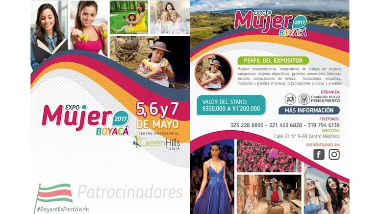Expo Mujer Boyacá 2017 abre sus puertas a emprendedoras y empresarias del departamento