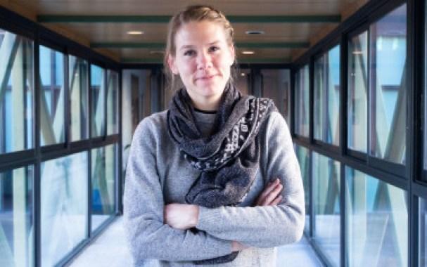<p>Marie Bergström en el Instituto Francés de Madrid / Lucía Torres</p>