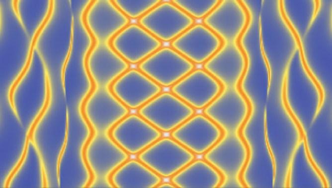 <p>Patrón característico de transporte electrónico que delata la presencia de estados de Majorana en grafeno al variar el campo magnético. / CSIC</p>