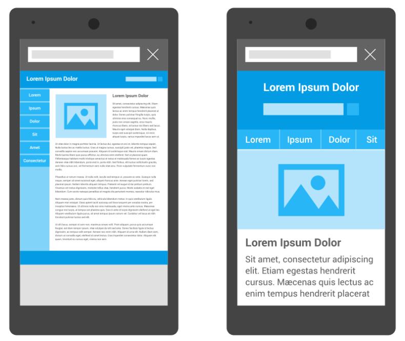 Diferença entre site responsivo e site não otimizado para mobile