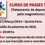 Curso de Passes: Tratamento da Depressão pelo Magnetismo em São José do Rio Preto – SP