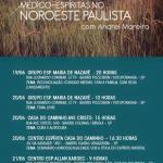 Palestras espíritas com Andrei Moreira em Votuporanga, São José do Rio Preto, Birigui e Araçatuba