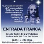 Espetáculo  Minha Casa Além da Terra – Nosso Lar em Belo Horizonte