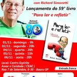 Richard Simonetti lança seu 59º livro – confira programação de palestras e autógrafos em Bauru – SP
