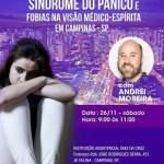 """Palestra """"Síndrome do pânico e fobias"""" com Andrei Moreira em Campinas – SP"""