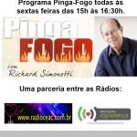 Programa Pinga-Fogo, com Richard Simonetti, todas às sextas-feiras das 15h às 16h30.