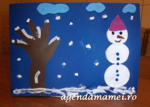 tablou de iarna craft