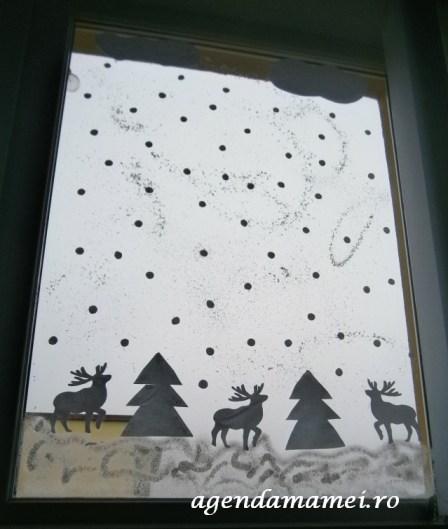 tablou de iarna decor geam