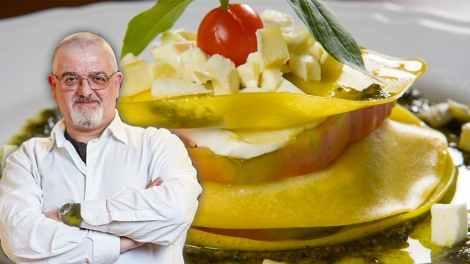 Francesco Pedace presenta le sue lasagnette alla caprese