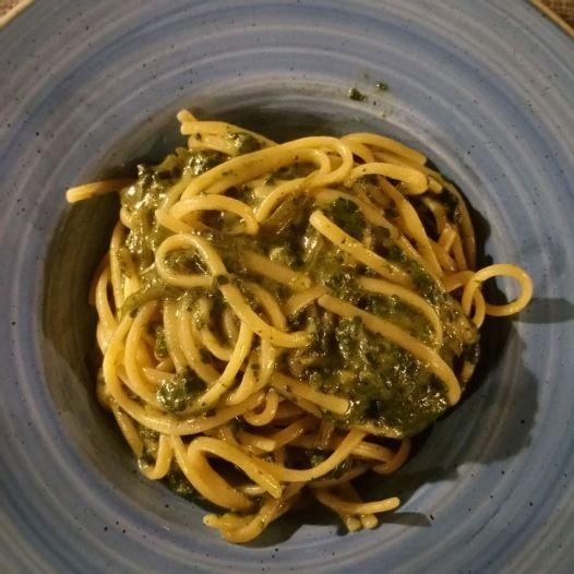 La Rampe: Spaghetti con borragine