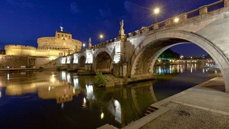Il Tevere e Castel Sant'Angelo a Roma
