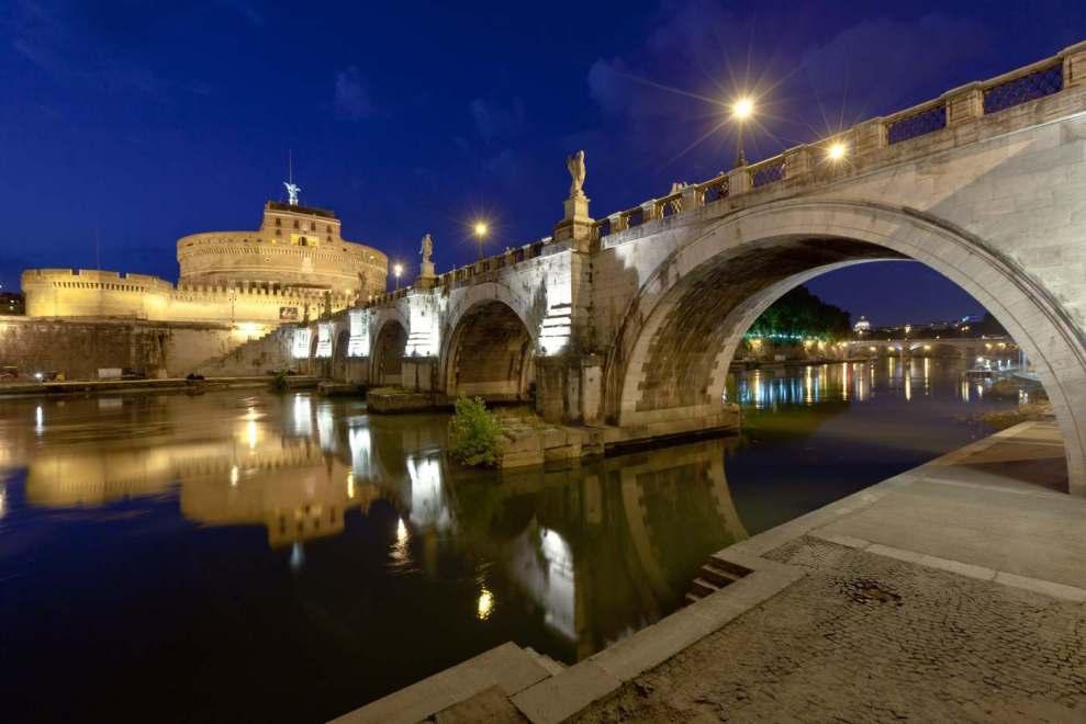 Il Tevere e Castel Sant Angelo a Roma