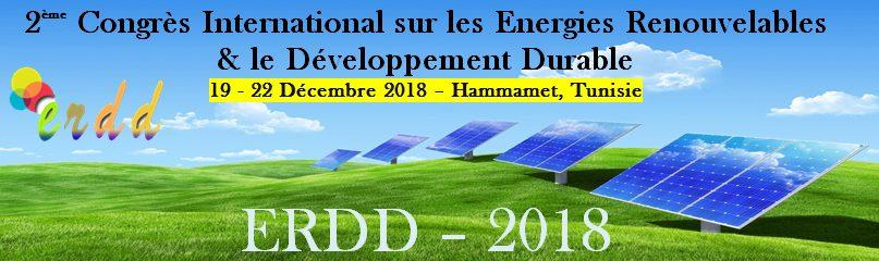 2ème Congrès International sur  les Energies Renouvelables et le Développement Durable (ERDD-2018)