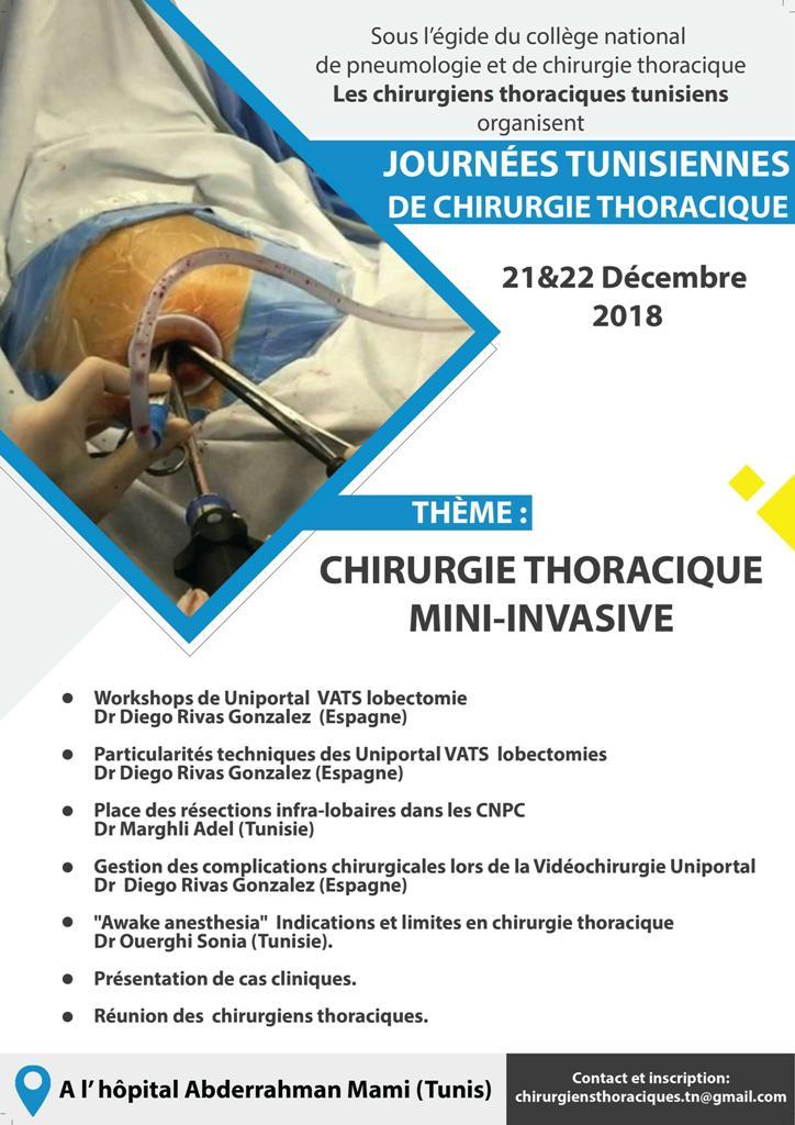 les Journées Tunisiennes de chirurgie thoracique à l'hôpital