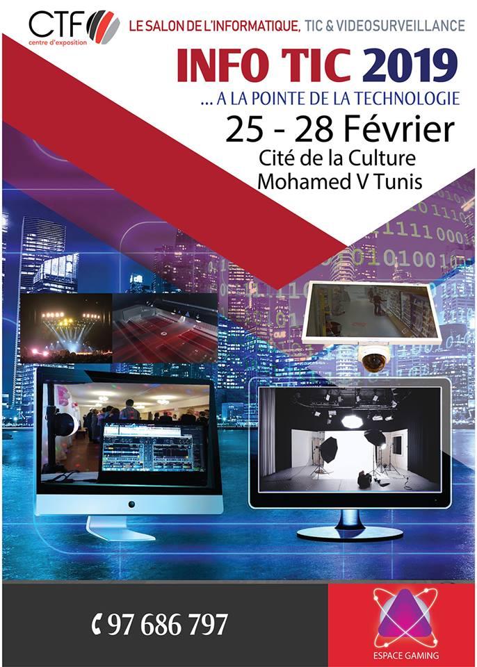 INFO-TIC 2019 : le Salon de l'Informatique, TIC et Vidéosurveilance INFO-TIC 2019
