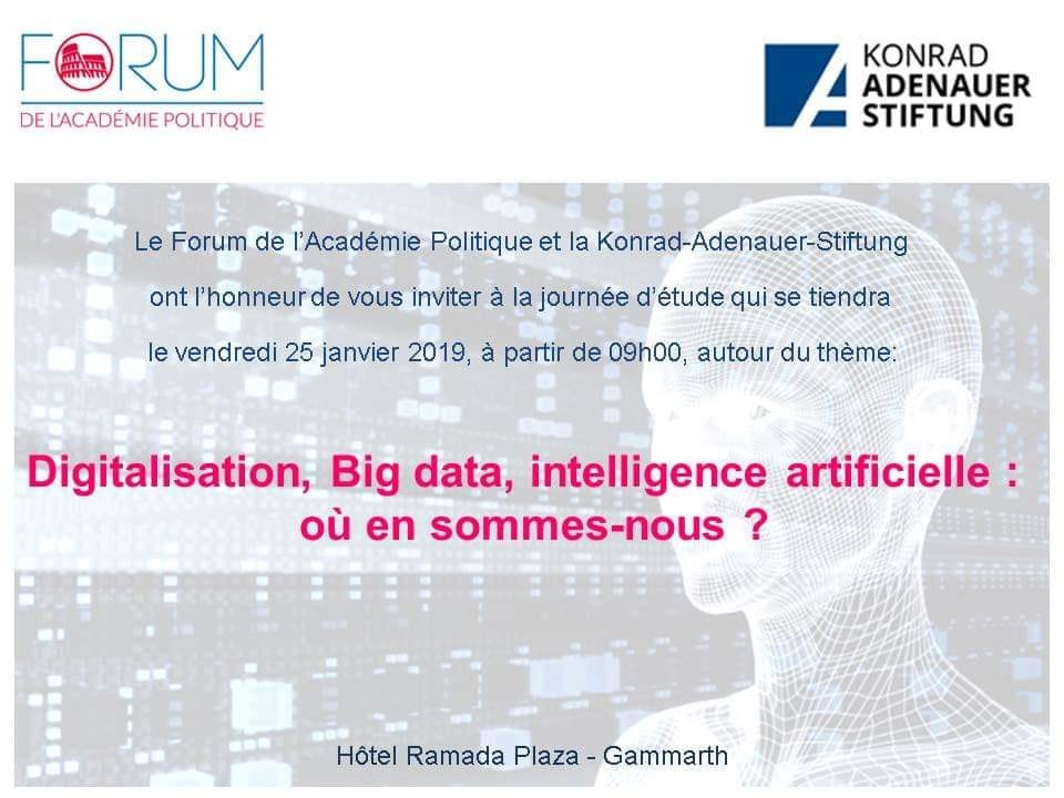 Digitalisation, Big data, inteligence artificielle : où zn sommes-nous ?