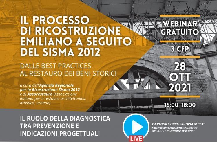Il processo di ricostruzione emiliano a seguito del sisma 2012- 28 ottobre 2021