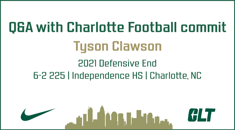 Q&A with Charlotte Football commit Tyson Clawson