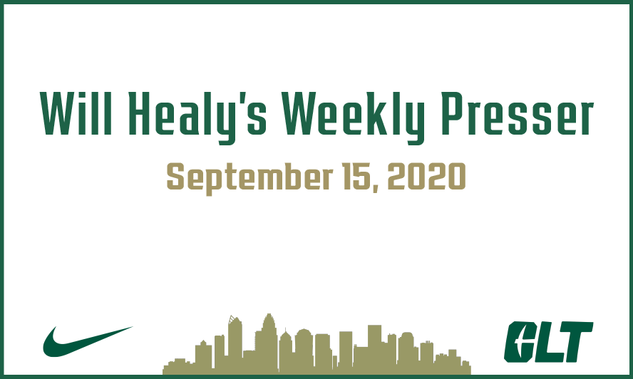 Will Healy's weekly press conference   September 15, 2020