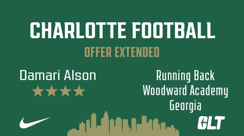 Charlotte Football offers Damari Alston