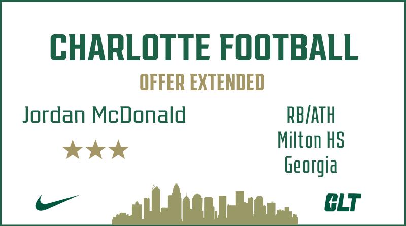 Charlotte Football offers Jordan McDonald