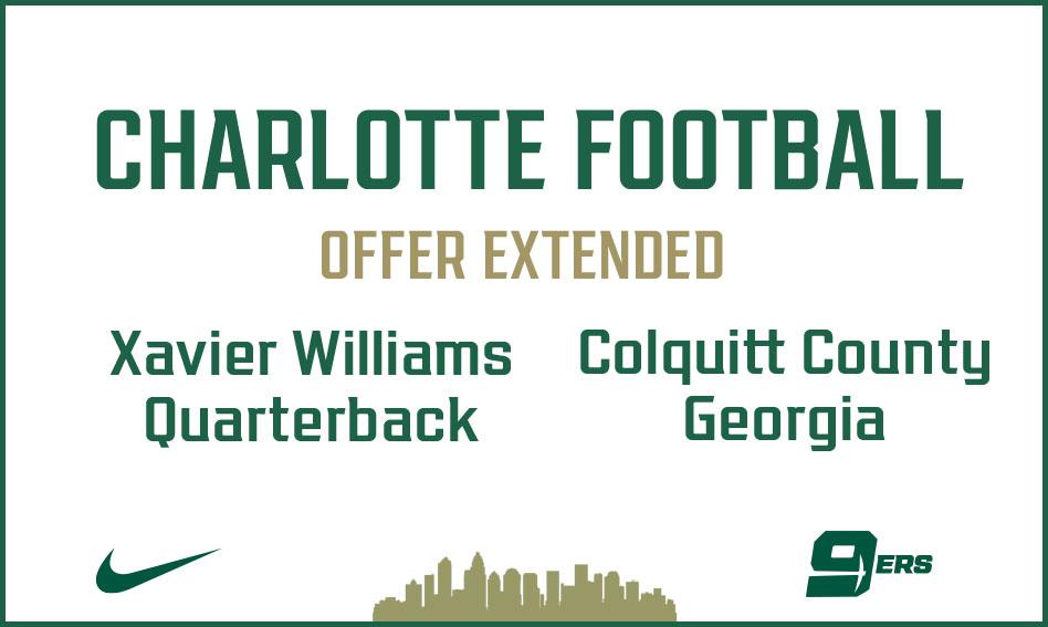 Charlotte Football offers Xavier Williams