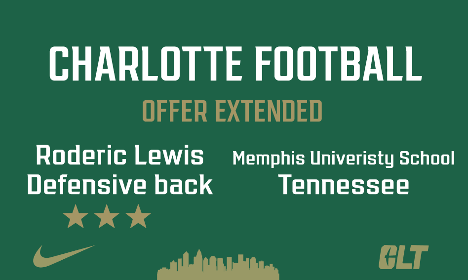 Charlotte Football offers Roderic Lewis