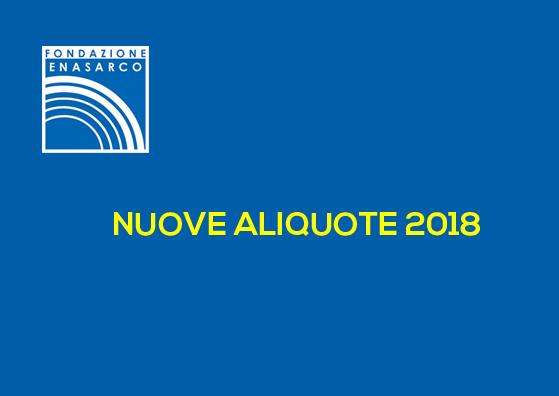 ALIQUOTE CONTRIBUTIVE 2018
