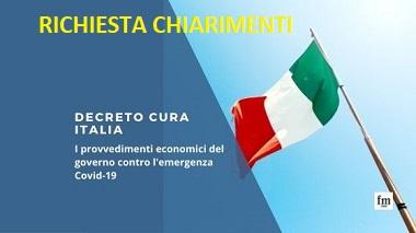 DECRETO CURA ITALIA: I SINDACATI DEGLI AGENTI CHIEDONO CHIARIMENTI