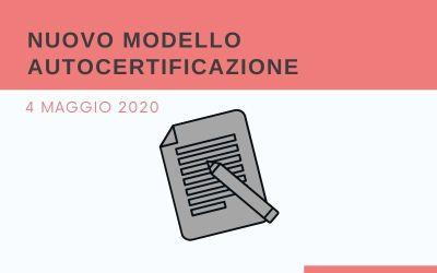 NUOVO MODELLO AUTOCERTIFICAZIONE