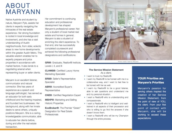 professional portfolio real estate agent operations realtor marketing