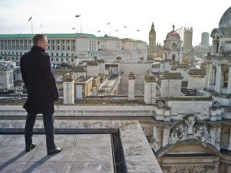 James Bond overlooking London