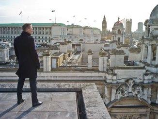 James Bond overlooking London