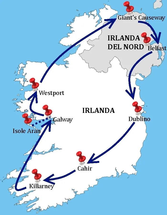 Irlanda Del Nord Cartina.Tour In Pullman Grantour D Irlanda Agenzia Viaggi Ltc