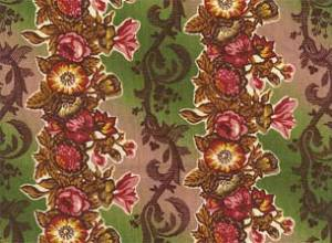 "Reproduction 1830's Cotton Print, ""Merchant's Wife"" line by Terry Thompson for RJR Fabrics"