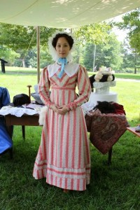 Beautiful reproduction 1820s Dress by Couture Courtesan