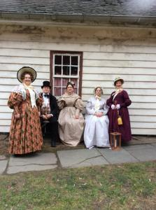 OEV Christmas At the Village, Pittsburgh Historical Costume Society Outing outside of Kitchen