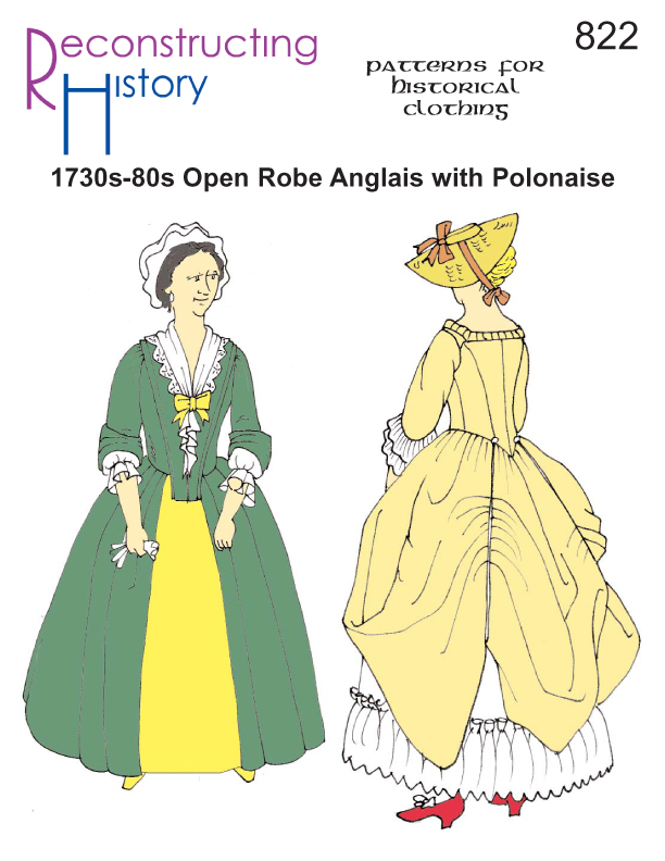 RH822 – OPEN ROBE ANGLAIS WITH POLONAISE OPTION