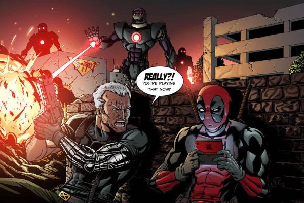 Deadpool Cable Sentinels art
