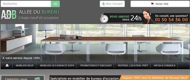 le site e commerce allee du bureau est un projet de l agence123 realise