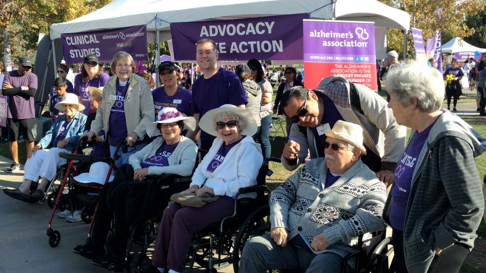 Residents of The Terraces at San Joaquin Gardens support the Alzheimer's walk