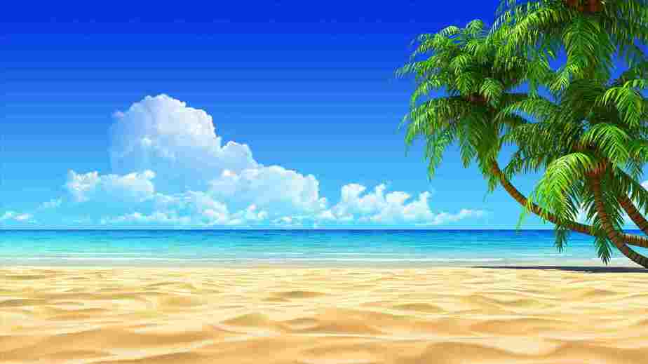 holiday destinations for the over 50s. Empty sandy beach