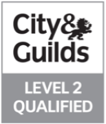 Logo of City & Guilds Level 2 qualified qualification