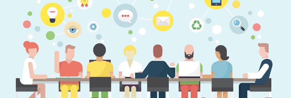 Étudiants, startup, éleveurs et commerçants travaillent main dans la main